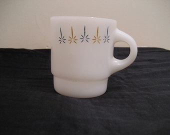 ANCHOR HOCKING fire king, coffee cup vintage retro 1970,s