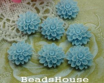 20%off 37-00-CA   6pcs Beautiful Crysanthemum Cabochon - Blue