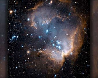 Poster, Many Sizes Available; Ngc 602 And N90 As Seen By Hubble Space Telescope