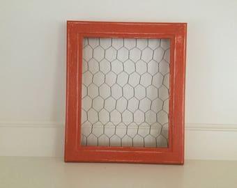 Chicken Wire Frame - orange