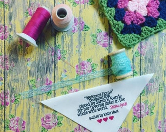 Personalized Quilt Labels, CUSTOMIZEABLE