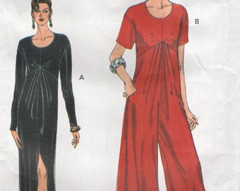 Vogue 8975 Dress or Jumpsuit VERY EASY VOGUE Sizes 12-14-16