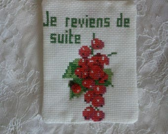 """embroidery cross pitch """"back"""" to hang anywhere"""
