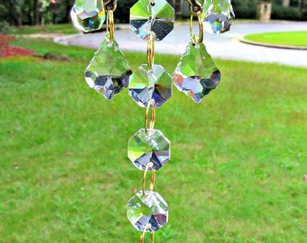 Clear  Crystal Butterfly Sun Catcher, Asfour Crystal Ball, Butterfly Gift, Crystal Suncatcher, Mirror Accent, Mirror Charm,