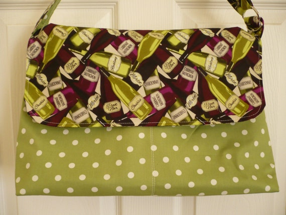 Got Wine? Adjustable Flappy Diaper Bag