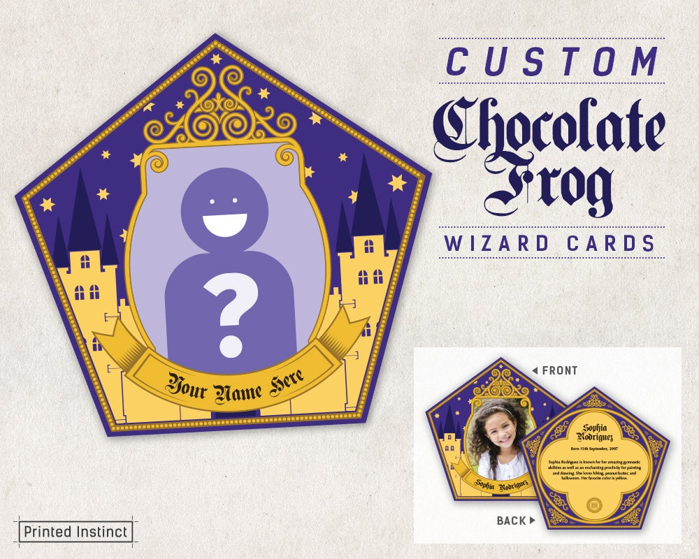 image relating to Harry Potter Chocolate Frog Cards Printable named Harry Potter Birthday Card Printable: Harry Potter Birthday
