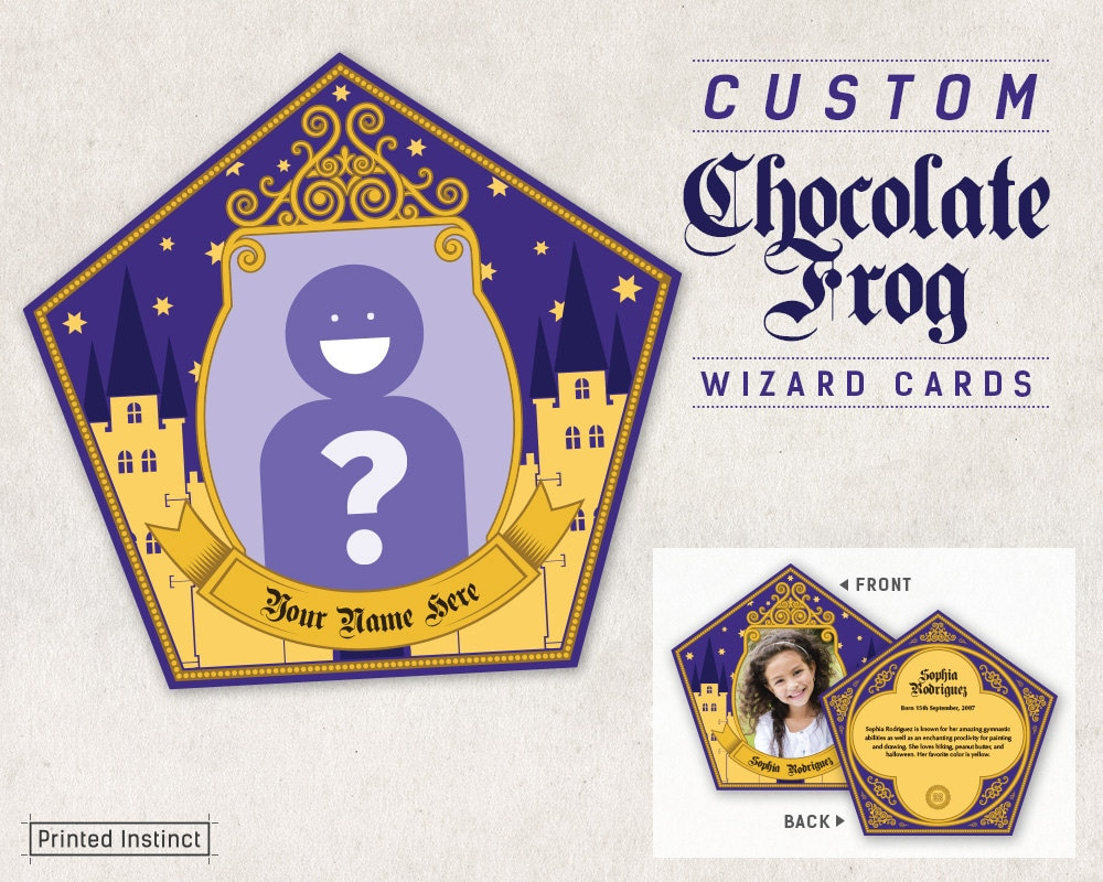 image relating to Chocolate Frog Cards Printable called Harry Potter Birthday Card Printable: Harry Potter Birthday