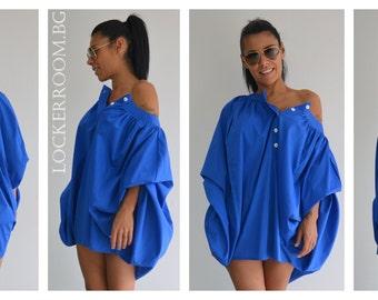 Plus Size Tunic, Summer Blouse, Maternity Shirt, Summer Top, Tunic Shirt, Cold Shoulder Top, Plus Size Clothing