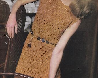PDF crochet dress vintage crochet pattern pdf INSTANT download pattern only pdf 1960's dress
