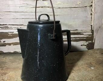 Cowboy Kettle Enamelware Graniteware Cowboy   118-3