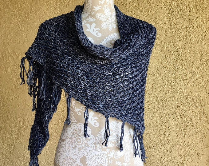Featured listing image: Leadville Shawl  --  a loom knit pattern