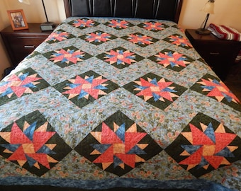 Beautiful Queen Handmade Quilt (96 x 100)