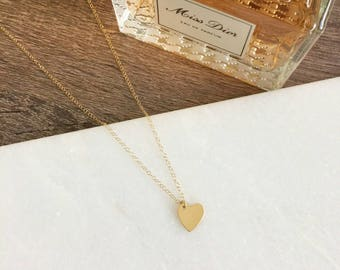 14k Gold Filled Heart Dainty Necklace