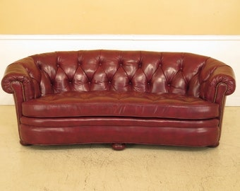 45224EC: CENTURY Tufted Leather Chesterfield Sofa