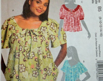 UNCUT, McCall's M5589, Sewing Pattern, Misses' Tops, Misses', Size 8-16,, McCall's 5589, OLD2NEWMEMORIIES