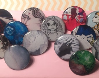 Personalised Illustration Badges