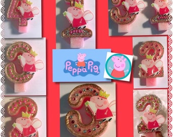 Peppa Pig Birthday candle age from 1-6