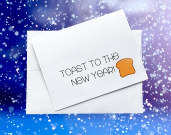 Toast to The New Year! Greeting Card