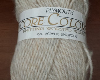 Plymouth ENCORE COLORS yarn, Acrylic and wool