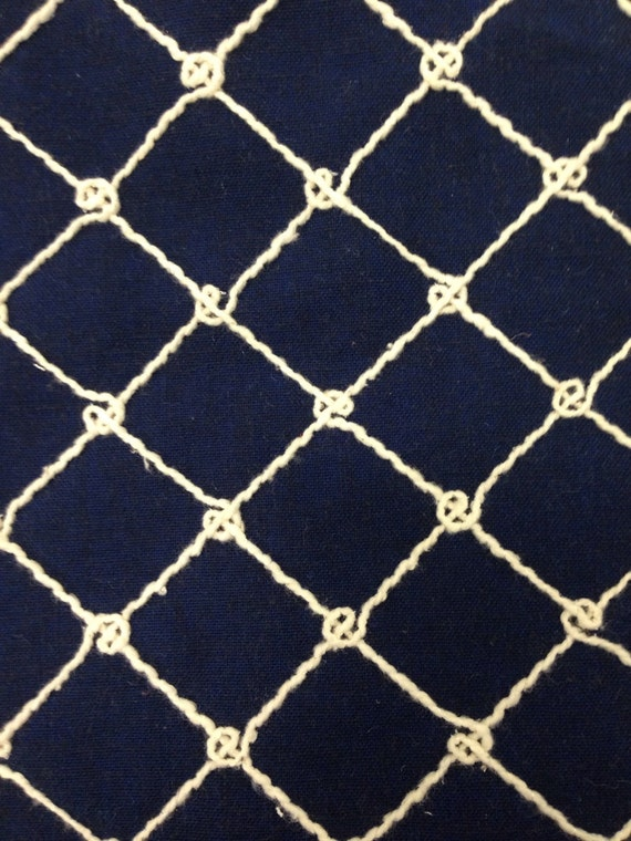 Navy Nautical Rope Upholstery Fabric By The Yard Coastal