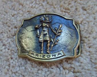 Buckle, Arizona Belt Buckle, Brass Buckle