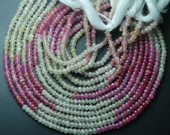 14 Inch,Super Finest Quality,Super--Natural UMBA SAPPHIRE Smooth Roundells,Size 3-3.5mm Aprx