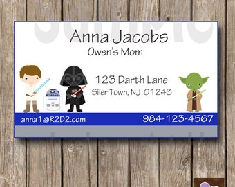 Star Wars Mommy and Me Play Date card - Print at Home - Calling Card - Friendship tag