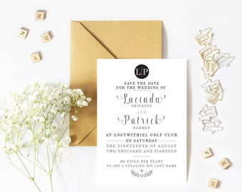 Elegant, save the date card, wedding save the day, save the date, save the date prints, modern save the date, wedding stationery