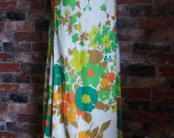 1970s Summer Floral Dress Size 18 UK