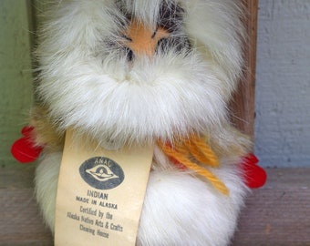 Vintage Handmade by Native Alaskan Indian Eskimo Doll Toy Certified
