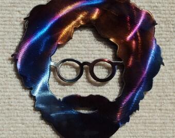 Jerry Garcia of the Grateful Dead Metal Art