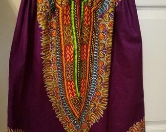 Dashiki Print Child Skirt with Headwrap