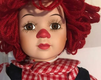Porcelain Raggedy Andy Doll