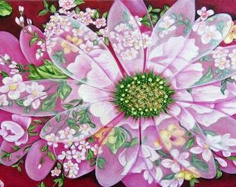 Floral Print, Art Print, Print, Flower Art Print, Flowers, Pink Flowers, Floral Wall Art, Flowers Home Decor