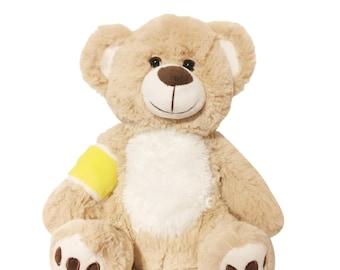 Yellow Cast Broken Arm Higgy Bear