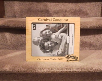Carnival Cruise 5x7 or 8x10 (Your Choice) Picture Frame Personalized Family Frame Family Name Frame Vacation Picture Frame
