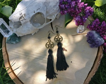 Boho Pentacle Earrings