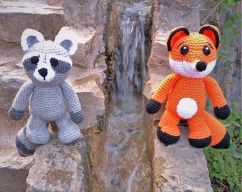 Red fox plush - Fox plush - fox plushie - fox stuffed animals - red fox - fox toy - raccoon plushie - crochet fox - nursery decor - foxy