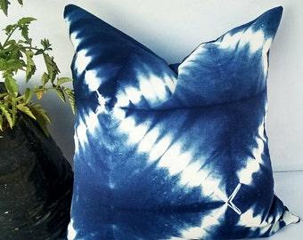 Decorative Pillow Cases Indian Tie Dyed Indigo Blue Cushion Cover Intetior Home Decore Sofa Cushion Shibori Gift Pillows Christmas Gift