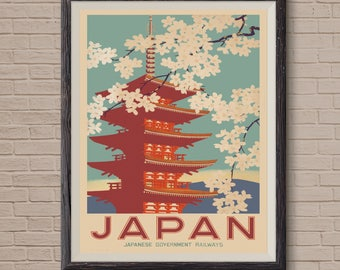 Vintage Japanese, Japan Gift, Japanese Railway, Japanese Travel, Japanese  Poster, Vintage