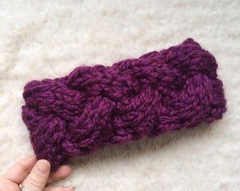 PRÊT à être expédier tressé bandeau tricot grosse maille câble laine bandeau turban tressé tricoté tête/bandeau en tricot Turban confortable hiver ethniques
