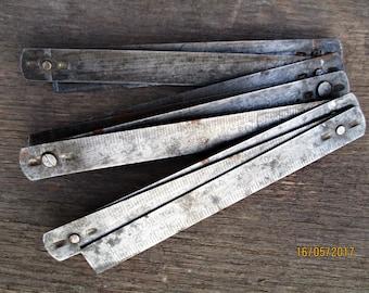 Vintage folding ruler/metal ruler/measuring tool/carpenter-joiner tool/Ruler Pocket Vintage/collectable tools