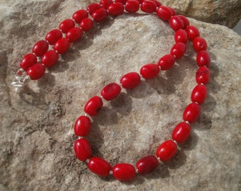 Bamboo Coral Necklace #656