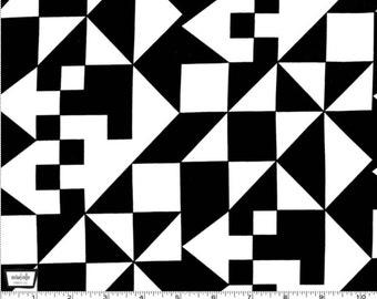 Tangram - Triangles Black by Mark Hordyszynski from Michael Miller