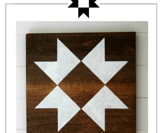 Farmhouse Barn Quilt Block Stencil - Ohio Star quilt block