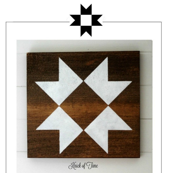 Farmhouse Barn Quilt Block Stencil Ohio Star Quilt Block From