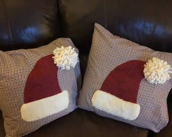 Santa Hat Pillows