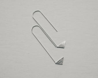 Geometric Sterling Silver Earrings, Jewellery, Thin Earrings, Minimalist Wire Hoops  - ENKEL Geometric Obsession #2
