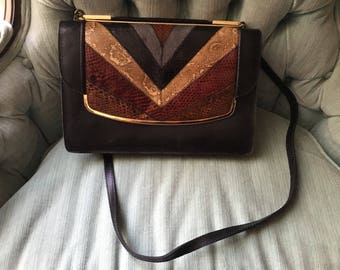 Vintage Leather and Skin Purse