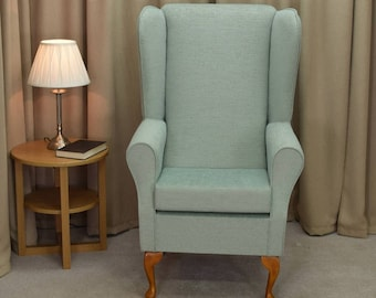 Highback Westoe Armchair in Kenton Duck Egg Fabric - 13742